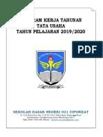 Program Kerja Tata Usaha 2019