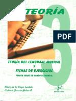 Teoría Del Lenguaje Musical y Fichas de Ejercicios - 3 Curso Grado Elemental - Si Bemol