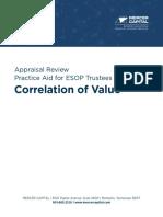 Mercer Capital ESOP Trustee Practice Aid Correlation of Value