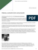 Historia y Evolución de La Comunicación _ María's Blog