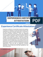 Are You Concerned About Your Experience Certificate Attestation? We Can Help You With Fast & Reliable Attestation Services in Kuwait...