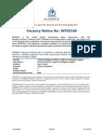 Vacancy Notice - CIO Fugitive Investigative Support INT02166