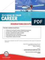 Vacancy - Reservations Executive