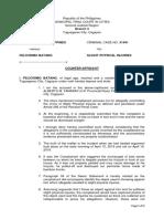 Counter-Affidavit Tamaray v Batang SlightPI