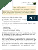 Outdoor Corporate Program Event Training