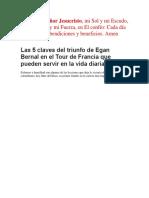 Las 5 Claves Del Triunfo de Egan Bernal