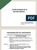 gestión interna en el sector público