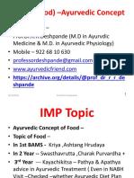 Aahar ( Food) –Ayurvedic Concept