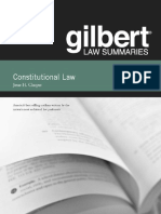 Gilbert Law Summaries on Constitutional Law - textbook