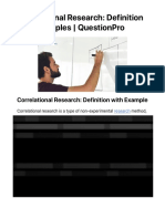 Correlational Research- Definition with Examples | QuestionPro