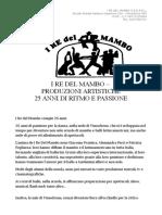 Comunicato Stampa Re Del Mambo