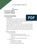 Analysis on Tiga Pilar Sejahtera