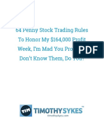 64 Penny Stock Trading Rules to Honor My 164000 Profit Week I'm Mad You Probly Don't Know Them Do You
