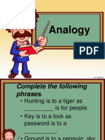 Analogy and Noun Complements