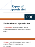 Types of Speech Act