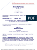 Philippine Clean Water Act