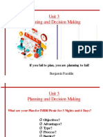 Unit 3- Planning and Decision Making