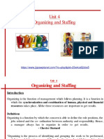 Unit 4- Organizing and Staffing