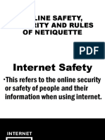 2nd Online Safety, Security and Rules of Netiquette.