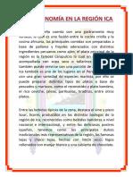 Gastronomía en La Región Ica