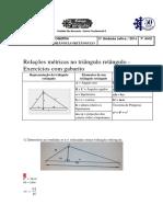 Lista de Exercícios Relaçoes Metricas No Triangulo Retangulo 3 UL Sbc