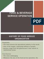 Food and Beverage Service Operation Hi
