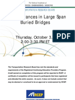Latest Advances in Large Span Burried Structures