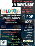 Loto de l'association Kick Aquitaine