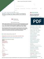 Mindtree Coding Test Papers (AMCAT AUTOMATA)