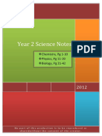 Secondary 2 Science  notes