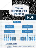 Texto Literarios y No Literarios