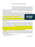 CUMANDA - Al Excmo Señor Director de La RAE