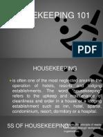 Housekeeping Training 101