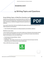 Mindtree Essay Writing Topics and Questions _ PrepInsta