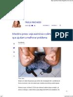SAÚDE - Intestino Preso - Veja Exercícios e Alimentos Que Ajudam a Melhorar Problema