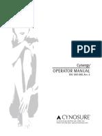 Cynergy Cynosure Dermatology Laser - User Manual