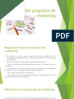 Diseño Del Programa de Marketing