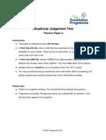 SJT Practice Paper 2 Large Print