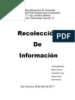 Recolecion de informacion castellano aaa