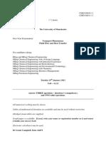 Transport Phenomena Exam, January 2011, With Model Answers(2)