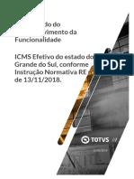 ICMS Efetivo do Estado do Rio Grande do Sul