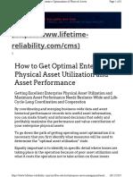 Asset Optimization