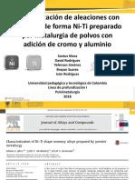Caracterización de Aleaciones Con Memoria de Forma Ni-Ti1