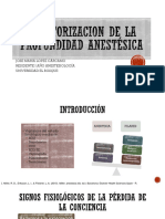 Monitorizacion de La Profundidas Anestésica