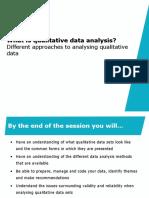 Analysing Qualitative Data. M_Fajar Nurochman