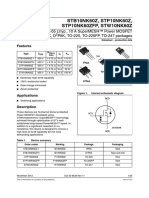 Datasheet Familia P10NK60 - B10NK60 [Z y ZFP]
