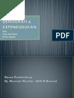 DEMOGRAFI & KEPENDUDUKAN