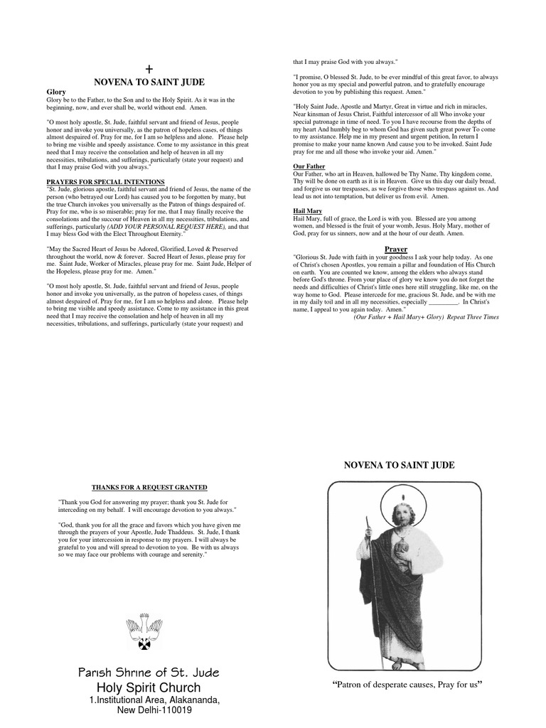 novena st jude english | Lord's Prayer | Intercession