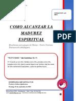 2019 MES 09 DIA 22 - E. CELULAS - COMO ALCANZAR LA MADUREZ ESPIRITUAL - PREDICA PASTORA LILIAN QUIÑONES.docx