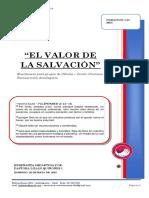 2019 Mes 05 Dia 26 - e. Celulas - El Valor de La Salvacion - Pra. Lilian Quiñones